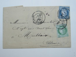 1876 , Lettre A Mulhausen - 1876-1878 Sage (Type I)