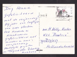 Netherlands: Postcard, 2011, 1 Stamp, Private Local Postal Service Stadspost Hoogeveen, City Post (traces Of Use) - Period 1980-... (Beatrix)