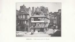 1901 - Phototypie - Morlaix (Finistère) - La Place Du Marché - FRANCO DE PORT - Vieux Papiers