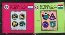 #B70# PARAGUAY MICHEL BL 162-163 MNH**. SPACE. - Paraguay