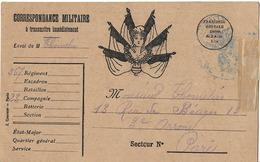 CARTE FM MARIANNE ET 6 DRAPEAUX COURCIER PARIS - Postmark Collection (Covers)