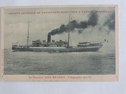 Le Paquebot SIDI BRAHIM (Société Générale De Transports Maritimes à Vapeur, Marseille ) Ref 1416 - Paquebots