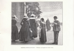 1901 - Phototypie - Plonévez-Porzay (Finistère) - Des Pélerins à Sainte-Anne La Palud - FRANCO DE PORT - Vieux Papiers