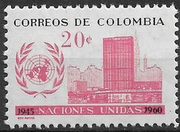 1960 Kolumbien Mi 953  + Bl. 21**MNH  15 Jahre Vereinte Nationen (UNO - Colombia