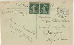 ALGERIE CONVOYEUR CONSTANTINE BORDJ BOUIRA 1919 - Poststempel (Briefe)