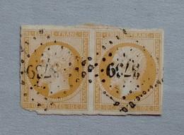 OBLITERATION LOSANGE PETITS CHIFFRES 3739 DE TLEMCEN - 1853-1860 Napoleon III