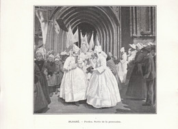 1901 - Phototypie - Douarnenez (Finistère) - Sortie De La Procession Du Pardon De Ploaré - FRANCO DE PORT - Vieux Papiers