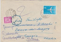 Switzerland Airmail Cover To Italy, Postage Due    (A-332) - Brieven En Documenten
