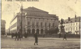 LIèGE  Théâtre Royal, Statue De Grétry. - Luik