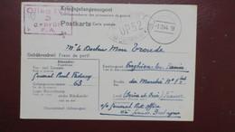 Formulaire Oflag IVB Königstein  ( Camp Pour Hauts Gradés Généraux ) Decembre 1944 Pour Enghien Les Bains - Marcophilie (Lettres)
