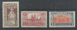 ESPAÑA  EDIFIL  833/35  MH  * - 1931-50 Nuevos & Fijasellos