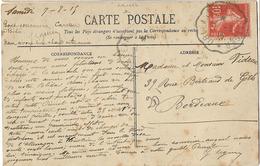 ALGERIE CONVOYEUR ORLEANSVILLE ALGER 1915 CPA DRAPEAU DU 2e ZOUAVES - Poststempel (Briefe)
