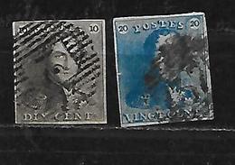 BELGIQUE 1/2 Oblitérés Rond - 1849-1850 Médaillons (3/5)