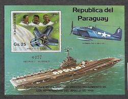 #B209# PARAGUAY MICHEL BL 390 MNH**. SPACE. AIRPLANE, SHIP. - Paraguay