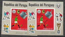 #B214# PARAGUAY MICHEL BL 128+ 128 MUESTRA MNH**. SPACE. FOOTBALL, SOCCER. - Paraguay