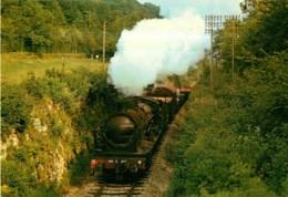 TRAIN 140 C 287 Vers Forêt De Lugny  En 1974 - Ligne Chatillon / Seine IS S/ Tille - Format CPM - 2 Scans - Matériel