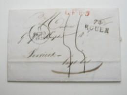 1828 , Lettre De Darnétal    A Vervier - 1849-1850 Ceres