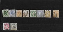 BELGIQUE 26 à 35 Oblitérés Rond - 1869-1883 Leopold II