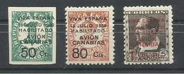 CANARIAS EDIFIL 4/6  MH  * - España