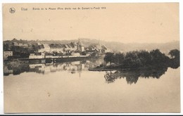 CPA PK  VISE  BORDS DE LA MEUSE  RIVE DROITE VUE  DE DEVANT LE PONT  1914 - België