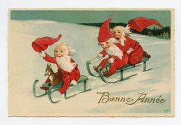 Marie FLATSCHER  Bonne Année Lutin, Nain, Gnome .New Year Pixie, Dwarf . Kobold Zwerg Gnom. Frohes Neues Jahr - Anno Nuovo