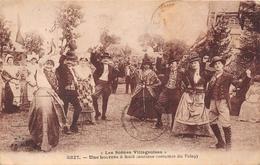 ¤¤  -  Anciens Costume Du VELAY  -  Une Bourrée à Huit  -  Les Scènes Villageoises  -  Folklore  -  ¤¤ - France