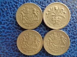 7 X ONE POUND , 1983 X 4 - 1984, 1989 & 1993 - 1971-… : Decimal Coins