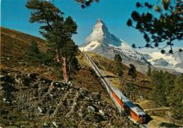 ZERMATT - Gornergratbahn 1616 3130 M - Mont CERVIN - Matterhorn - Format CPM - 2 Scans - Matériel