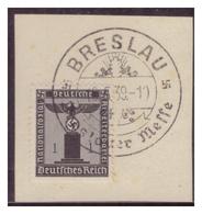 Dt-Reich (007181) Sonderstempel Auf Briefstück, Breslau, Breslauer Messe, Gestempelt Am 19.5.1939 - Gebraucht