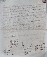 Madame DE CROCY .(Calvados) Une  Lettre Autographe Signée,deux Pages.manuscrites .à Monsieur Du Motté à Guibray.1742. - Autographes