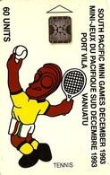 VANUATU 60 UNITS TENISS  SOUTH PACIFIC GAMES SPORT 12-1993 CHIP  3000 ONLY !! VAN1-10 READ DESCRIPTION !! - Vanuatu