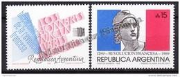 Argentina 1989 Yvert 1680- 81, French Revolution Bicentenary - MNH - Argentina