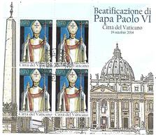 VA011 - VATICANO 2014 - MINIFOGLIO MF 1680 - BEATIFICAZIONE DI PAPA PAOLO VI - USATO TIMBRO PRIMO GIORNO EMISSIONE - Vatican