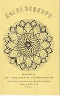 Kaleidoscope Presented By The Students Of Brockville Collegiate Institute, April 30, May 1, 1976 - Programs