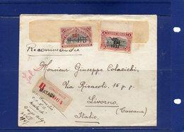 ##(ROYBOX1)-Postal History-Belgian Congo1922-Registered Cover From Matadi To Livorno Italy - 1894-1923 Mols: Storia Postale