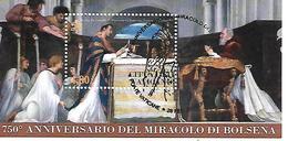 VA012 - VATICANO 2013 - FOGLIETTO BF 77 - 750° MIRACOLO DI BOLSENA - USATO TIMBRO SPECIALE PRIMO GIORNO EMISSIONE - Vatican