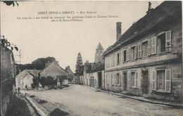 Carte Postale Ancienne De Saint Seine L'abbaye Rue Sonnois - France