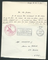 """LAC EN 1960 Cachet Militaire Rouge """" Magasin Atelier Du Matériel De Limoges / Le Vaguemestre """"    - Lx0706 - Marcophilie (Lettres)"""