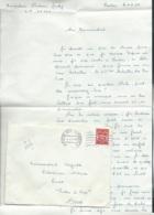 """LAC EN 1960 Timbre Fm Yvert N° 12 Oblitéré """"poste Aux Armées"""" Missive En Provenance De Landau ( Allemagne)    - Lx0708 - Postmark Collection (Covers)"""