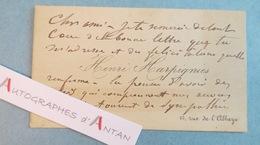 CDV Henri HARPIGNIES Peintre école De Barbizon - Saint Privé Par Bléneau Yonne Né Valenciennes - Carte Lettre Autographe - Autographes