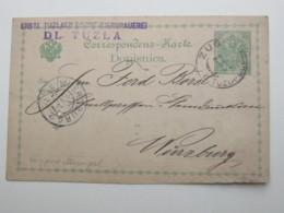 1902 , Bahnpoststempel : ZUG  TUZLA - DUGOV , Ganzsache ( 1 Kleines Aktenloch) - Bosnie-Herzegovine