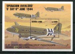 Sierra Leone ** Bloc 244 - Dakota  C.47 Douglas - Sierra Leone (1961-...)