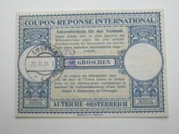 1934 , IAS , Antwortschein Aus Gmunden - 1918-1945 1. Republik