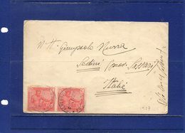 ##(ROYBOX1)-Postal History-Belgian Congo1927-Cover From Albertville To Sedini-Sassari Italy, Stamps Affixed On Back - Congo Belga