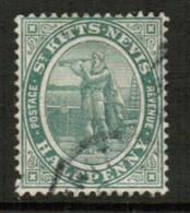 ST.KITTS NEVIS   Scott # 1 VF USED (Stamp Scan # 434) - St.Christopher-Nevis-Anguilla (...-1980)
