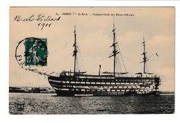 FRANCE / BREST / LE BORDA / VAISSEAU ECOLE DES ELEVES OFFICIERS / 1911 - Sailing Vessels