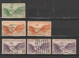 MiNr. 85, 87, 89  Panama-Kanalzone,  1931, 18. Nov./1949. Gaillard-Durchstich Des Panamakanals. - Panama
