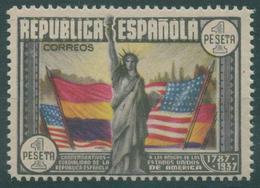 España 1938. Edifil 763** - CL Aniversario Constitución EE.UU. - 1931-50 Nuevos & Fijasellos