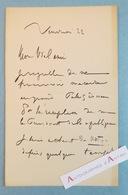 L.A.S Henri HARPIGNIES Peintre école De Barbizon - Grand Palais Réception Président De La République - Lettre Autographe - Autographs
