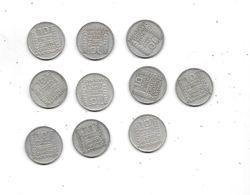 LOT De 10 Pièces 10 Francs TURIN Argent  De 1934 - K. 10 Francs